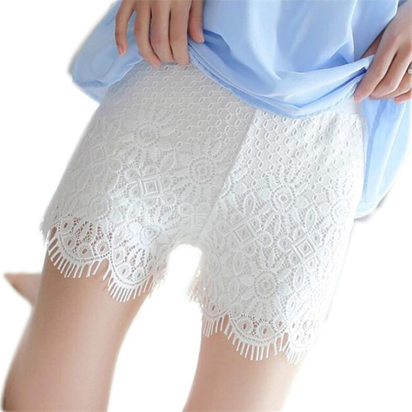 YRRETY Fashion <font><b>Lace</b></font> <font><b>Shorts</b></font> High Waist Women Summer <font><b>Shorts</b></font> <font><b>Plus</b></font> <font><b>Size</b></font> Sexy <font><b>Lace</b></font> Floral Hollow <font><b>Shorts</b></font> Black Summer Fitness <font><b>Short</b></font> image