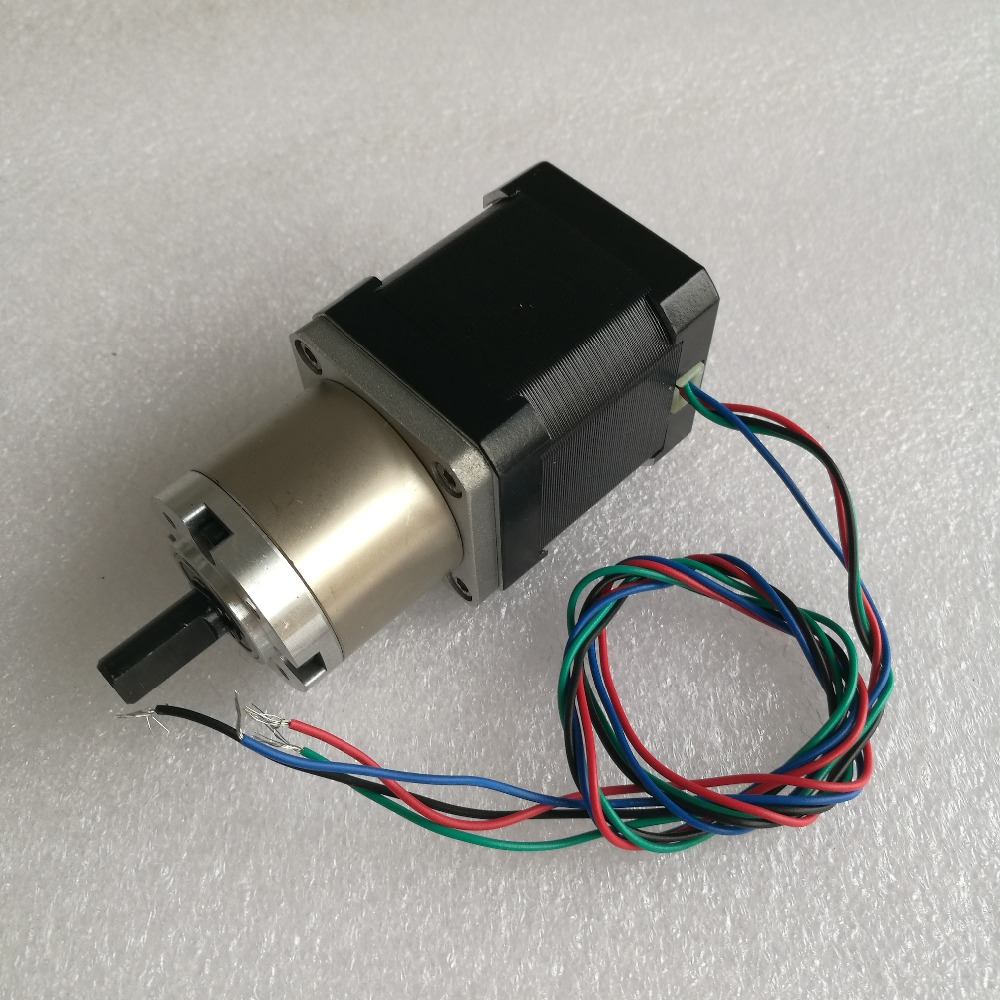 5pcs/lot New Best Gear ratio 13:1 Planetary Gearbox stepper motor Nema 17 1.7A Geared Stepper Motor 3d printer stepper motor new best gear ratio 1 3 71 planetary gearbox stepper motor nema 17 1 7a geared stepper motor 3d printer stepper motor
