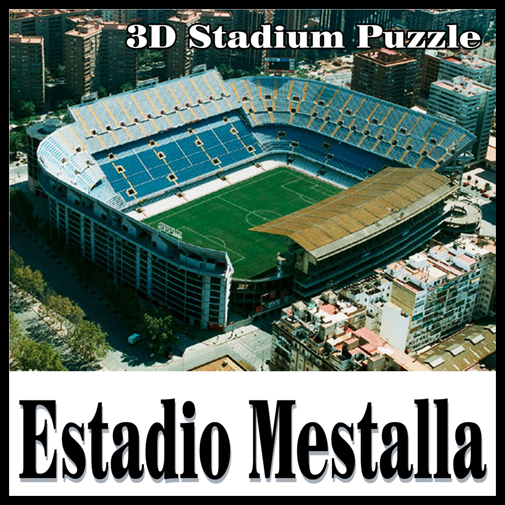 Clever & Happy puzzle 3D stade de football stade de Mestalla EstadiodeMestalla modèle de puzzle Mestalla Jeux Jouets Halloween Noël