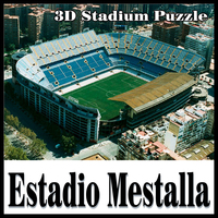 Clever Happy 3D Puzzle Football Stadium Mestalla Stadium EstadiodeMestalla Puzzle Model Mestalla Games Toys Halloween Christmas