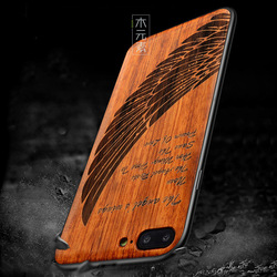 2019 New For iPhone 8 Case iPhone 8 Plus Slim Wood Back Cover TPU Bumper Case For iPhone 7 Phone Cases 7 Plus 1