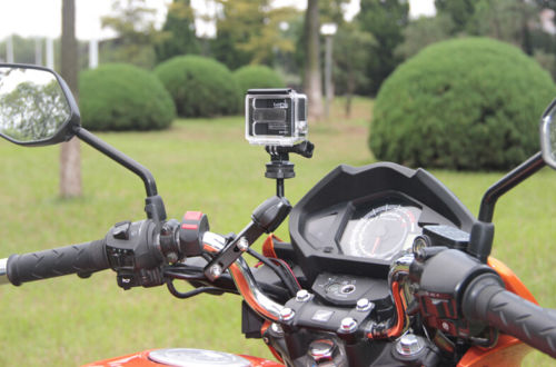Motorcycle Bike <font><b>Handlebar</b></font> Scooter Holder Mount for GoPro Hero 5 4 3+ 3 SJCAM XIAOYIMI ACTION Cameras Accessory