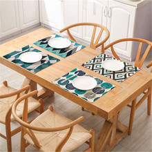 1Pc Fashion Stripe Pattern Dining Table Placemat Kitchen Decoration Dining Mat Accessories Dining Tableware Pad Multifunction flower pattern dining table placemat pastoral style tableware pad coaster coffee tea place mat kitchen decoration accessories