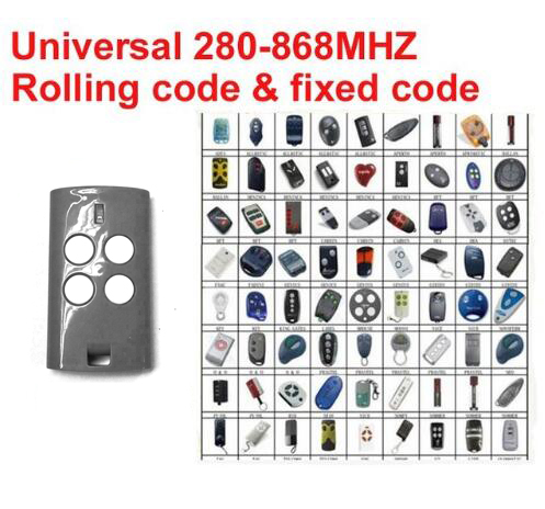 Auto-Scan  univeral remote  Multi frequency  280mhz - 868mhz  rolling code remote control clone hormann hs1 868 hs2 868 hs4 868mhz remote control replacement