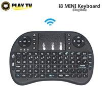Original i8 2,4G mini drahtlose Englisch lithium-akku tastatur Air Mouse und Touchpad für android tv box PC Laptop
