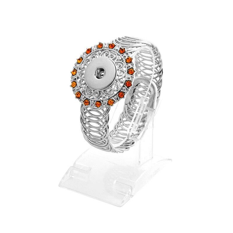 10 Pcs Diy Strass Vele Kleuren Snap Armbanden Mode Metalen Knop Charms Armband & Bangles Fit 18 Mm Snap Knoppen Sieraden Angel
