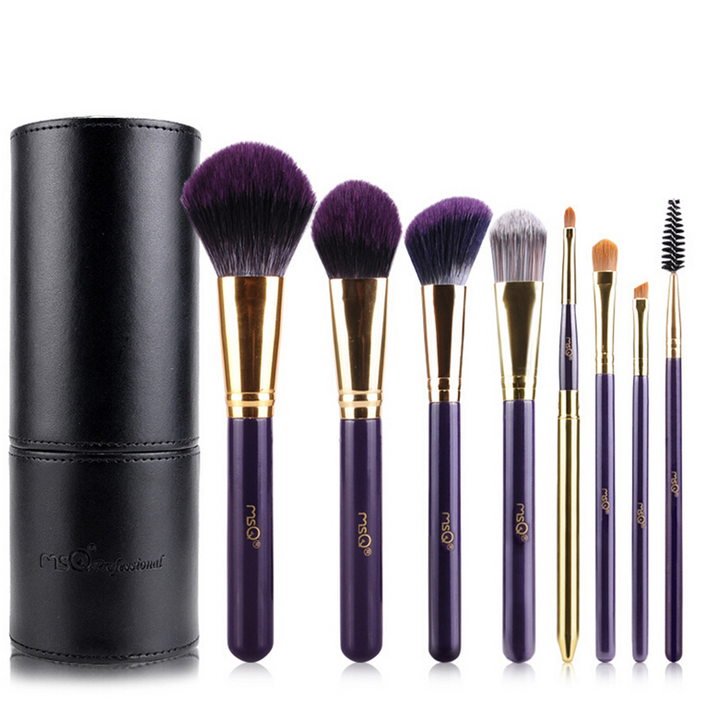 8 Pieces MSQ Bamboo Handle Makeup Brushes Eyeshadow Foundation Shade In Box 100% Top Good Drop Shipping Wholesale