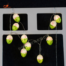 New 2017 Easter Egg Ball 10 LED String Lights Colorful Bulb Fairy Light Operated House Garden Room Ornament Party Decor Kid Toys