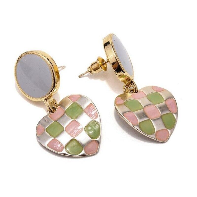 new trendy geometric heart dangle earrings for women metal earrings statement hyperbole jewelry gifts in Drop Earrings from Jewelry Accessories