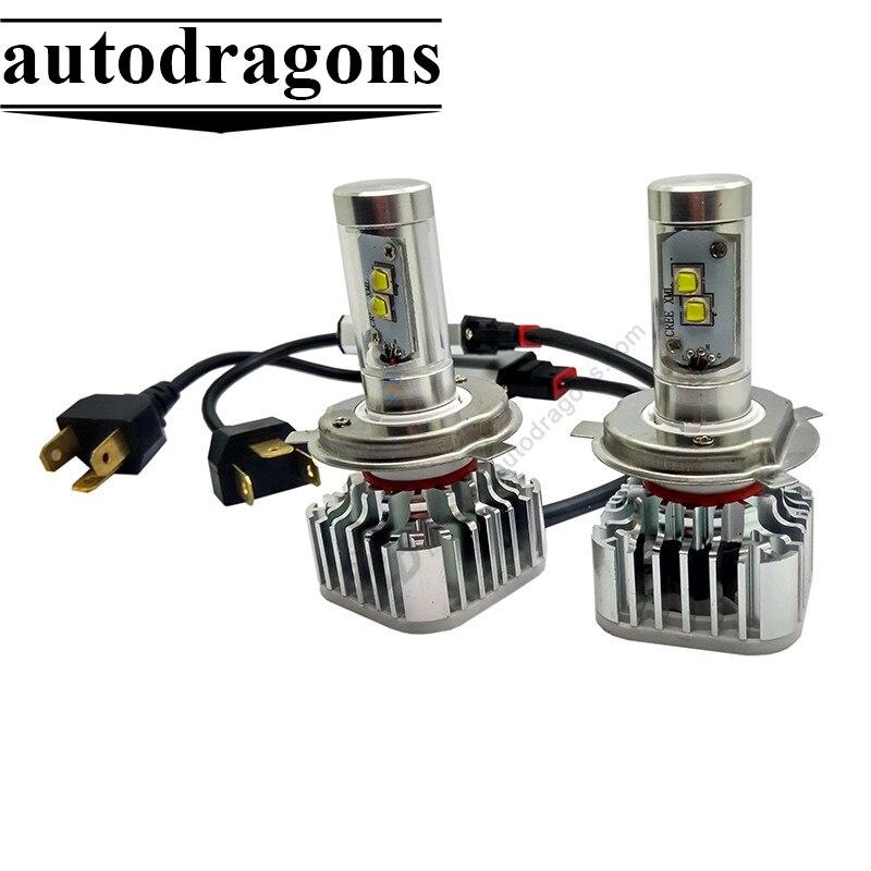 Для VW Touran/Гольф/поло/Jetta/Passat B5 H7 LED Фары для авто cr-XML 80 Вт 8000lm 12-24 В автомобиля Фары для автомобиля Переделочные комплекты