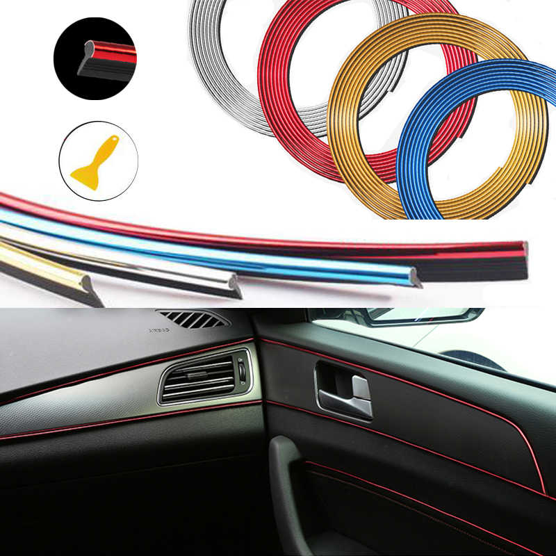 Mobil Interior Dekoratif Thread Stiker Trim Strip untuk Honda Civic Accord CRV Fit Jazz Dio Kota HRV Subaru Forester Legacy WRX