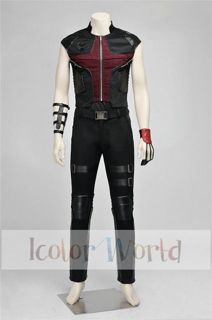 Hot Movie Deluxe New Avengers: Age of Ultron Hawkeye Clint Barton Eagle Eye Cosplay  Costume