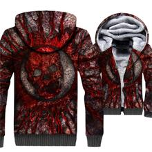 Sweatshirt For Men 2018 Autumn Winter Thick Hoodies Male SKULL Printed 3D Hooded Hoddie Harajuku Mens Sweatshirts Streetwear