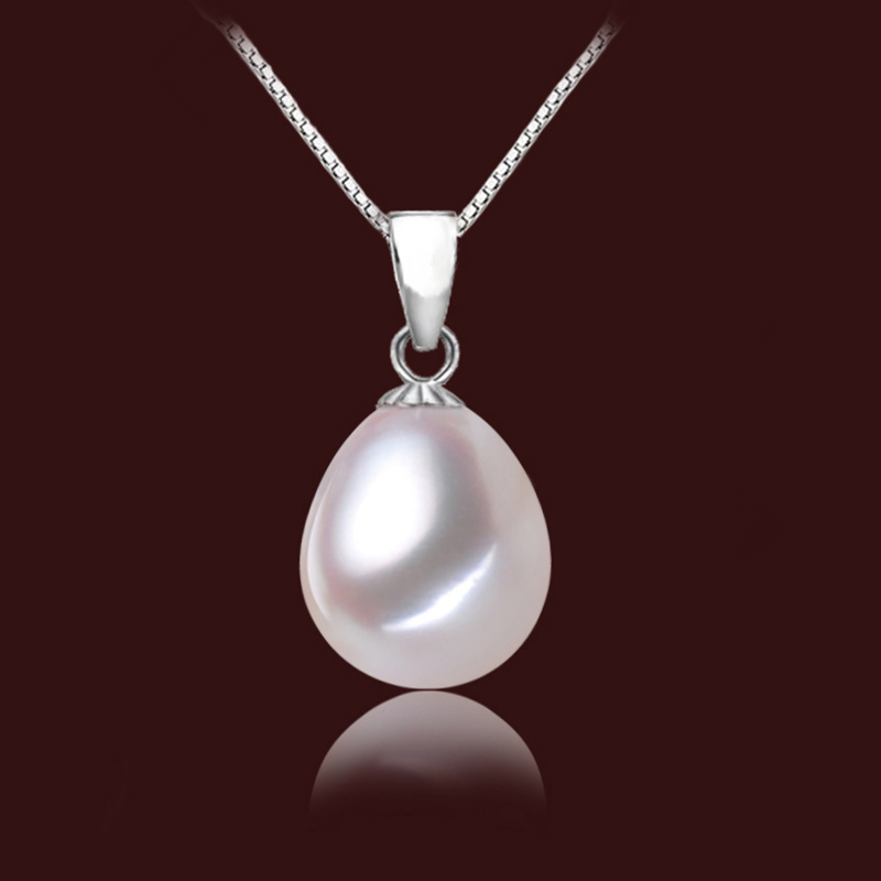 Genuine S925 Sterling silver 10-11mm natural Water droplets pearl Pendant Fashion Necklace Pendant For women Free shipping