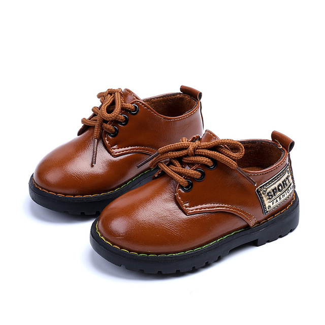 2017 new child leather shoes fashion boys leather shoes soft bottom baby toddler shoes boys baby first walkers shoes kids
