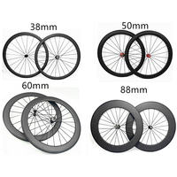 free shipping carbon wheels raod 700C 23mm width clincher 38mm 50mm 60mm 88mm NOVATEC271/372hubs bicycle road wheels
