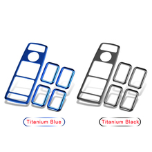 Titanium Door Window Lifter Switch Panel Cover Trim For Mercedes Benz A B C E GLK Class W176 W246 W204 W212 W218 X204