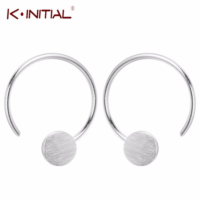 03bc3b714 Kinitial 925 Sterling Silver Geometric Earrings Simple Triangle Star Round Studs  Earrings For Women Fashion Hook Jewelry