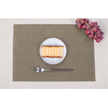 Solid Color PVC Bar Table Mat Waterproof Heat insulation and non slip Western food mat Home Kitchen Pads 5PCS