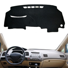 Auto Dashboard Mat Cover Pad Sun Shade Instrument Panel Carpet For Honda Civic 2006- 2008 2009 2010 2011 Car Styling Accessories radiator grille case for honda civic 4d 2006 2008 2010 abs plastic tuning decor design sports styles car styling car accessories
