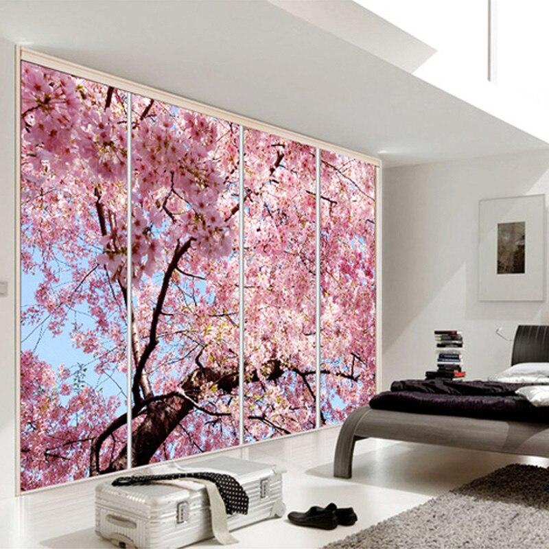 Custom Any Size 3D Wall Mural Romantic Beautiful Cherry Blossom ...