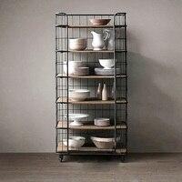 200cm High Removable 6 Tier Shelf Cabinet