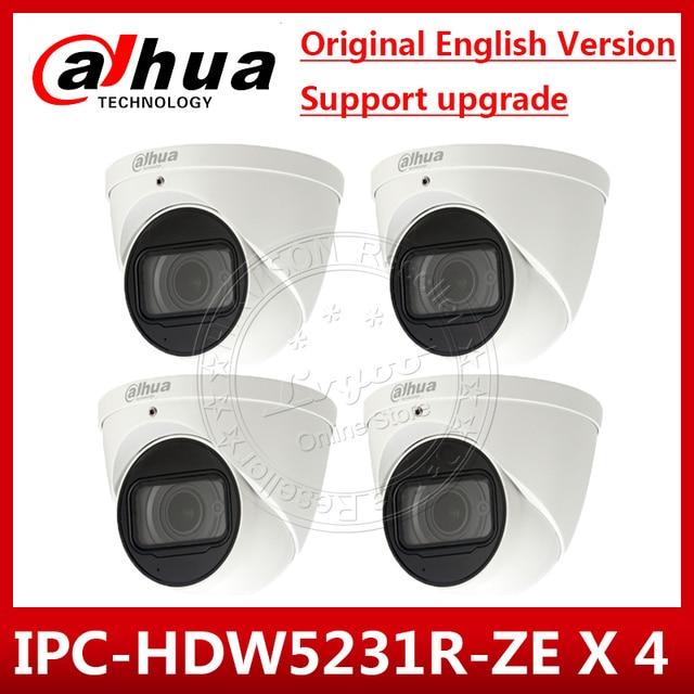 4 sztuk/partia Dahua IPC HDW5231R ZE 2MP WDR IR gałka oczna 2.7mm ~ 13.5mm zmiennoogniskowy zmotoryzowany wbudowany mikrofon kamera sieciowa IPC HDW5831R ZE