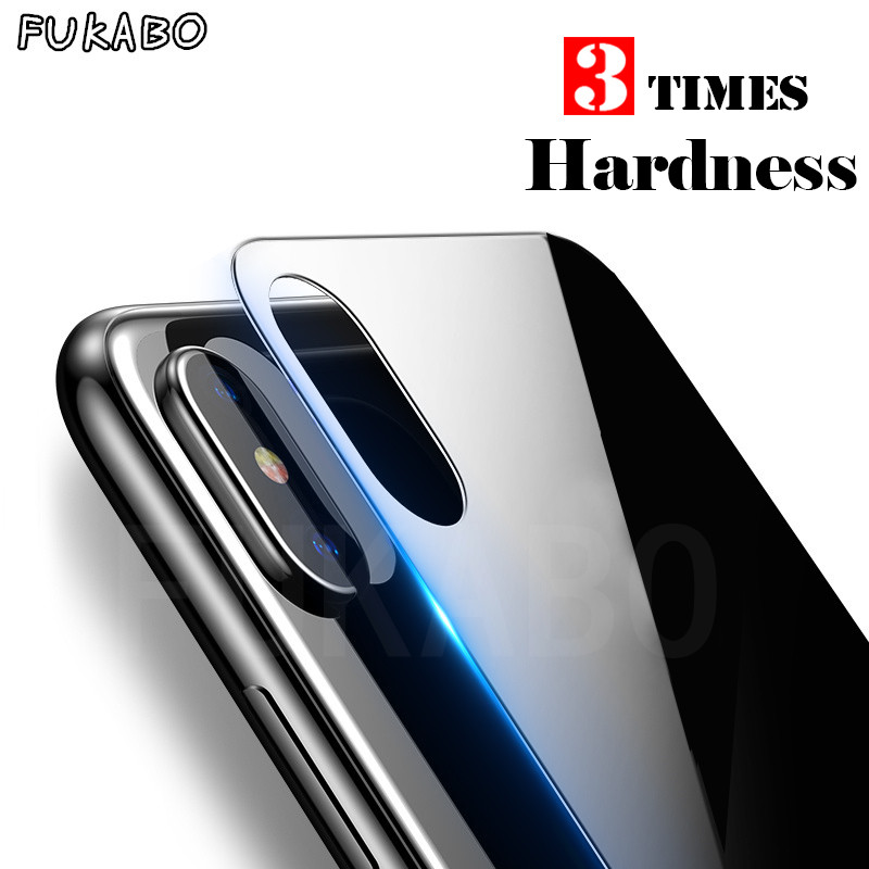 9H Full Cover Screen Protector For iPhone X Tempered Glass On the back For iPhone X 10 Rear Full Protective Toughened Glass Film