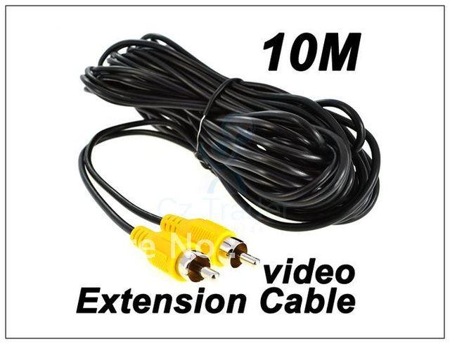 Free Shipping 10M AV To AV RCA to RCA male Gold AV Audio Stereo Extension Cable New 5pcs/lot