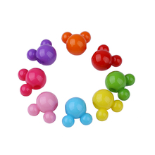 QIYIGE 100pcs Mixed Color Acrylic Mickey Shape Beads 100pcs/Lot Fashion Handmade For K DIY Jewelry Making