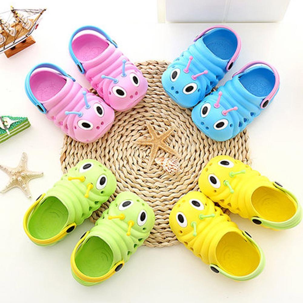 Summer Children's Slippers Toddler Kid Boys Girls Cute Beach Sandals Slippers Flip Shoes Infant Cartoon Print Flat Heels Shoes