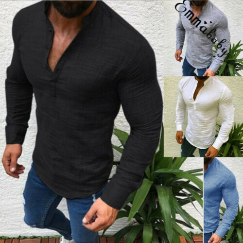 2019 New Men Fashion Casual Comfy Shirts Slim Fit Shirt Top Long Sleeve Plus Size M 3XL in Casual Shirts from Men 39 s Clothing