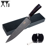 XYj Stainless Steel Kitchen Knife Gift Set 8 Inch Chef Knife Color Wood Handle Cooking Tools
