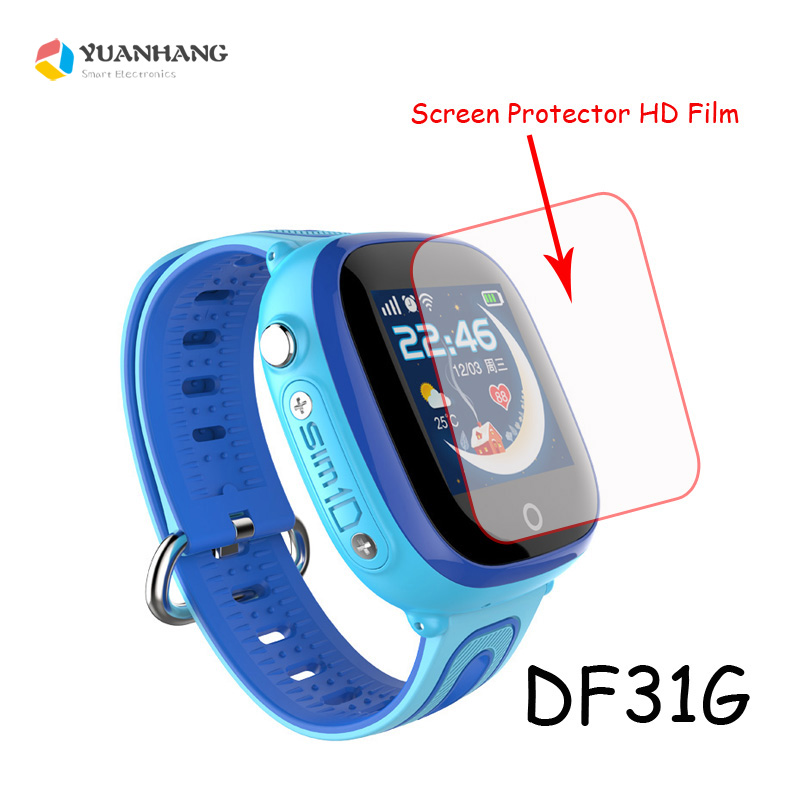 HD Glass Screen Protector Film for DF25 DF25G DF25W DF27 DF31G Baby Kids Child Smart Watch Smartwatch baby kids child smart gps watch universal protection tempered smartwatch glass screen film protector case for q50 t58 y3 2pcs