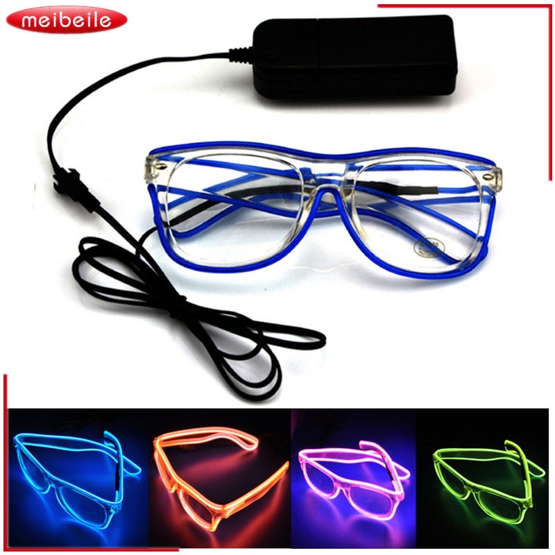 El Led Glasses Luminous Party Lighting Colorful Glowing Classic Toys for Dj Bright Light Halloween And Christmas Party Toy