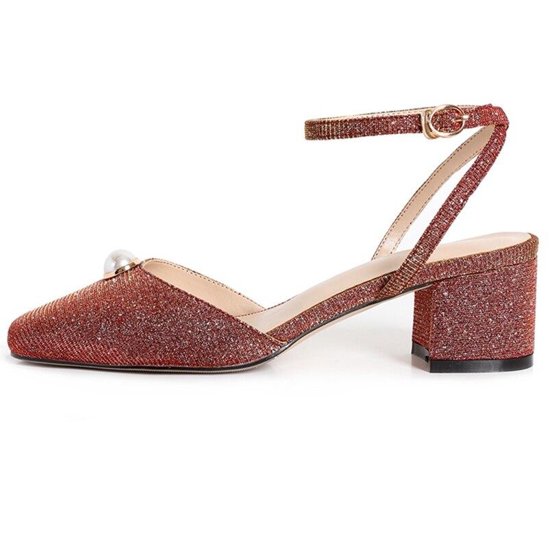 Talon Vestir Brown grey Janes Taille Mujer Pompes De Décontracté Mode 39 Bout 34 Ly409 New Moda Femmes Zapatos Mary Carré Enmayer 6xtqXHwR