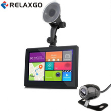 Relaxgo 7″ Android Car GPS Navigation Wifi FM Car DVR Video Recorder HD 1080P With Rearview Camera Parking Reverse Image