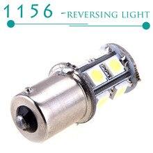 1Pcs led Car Warm White 1141 RV led Bulbs 1156 13-SMD 5050 LED Backup Reverse Light bulbs External Car Light Source CD00077