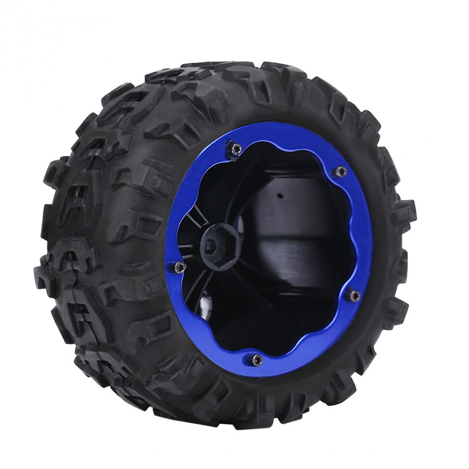 1pc Diameter 131mm RC Rubber Tyre Tires & Blue Plastic Hubs Wheel for RC Racing Car High Quality Remote Control Car Tires Whell mountain bike four perlin disc hubs 32 holes high quality lightweight flexible rotation bicycle hubs bzh002