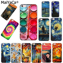 MaiYaCa Phone Case For iPhone 5s 6s 7 8plus X case Van Gogh Starry Night star Ballet Scenery flower Palette Scream by Munch(China)