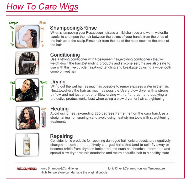 6how to care wigs