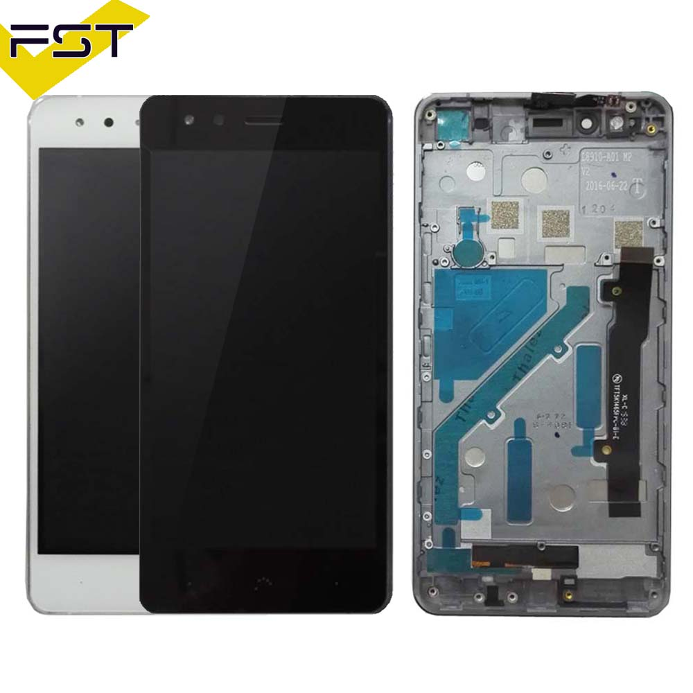 Black/White For BQ Aquaris X5 LCD Display+Touch Screen LCD Digitizer With Frame Glass Panel LCD Panel Tactil Con Marco For X5