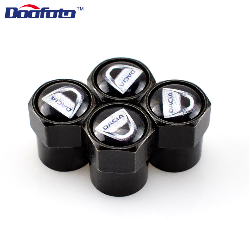Doofoto Car Styling Decor Logo Case For Dacia Lodgy 2 Mcv Sandero Duster Logan Sandero Emblems Accessories Auto Caps Badge 4pcs car styling gas brake pedal case for dacia sandero stepway dokker logan duster lodgy metal alloy skid proof rubbers