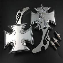 Aftermarket free shipping motorcycle parts Motor Billet Alloy Maltese Cross Custom Mirror  Ninja All year model CHROMED