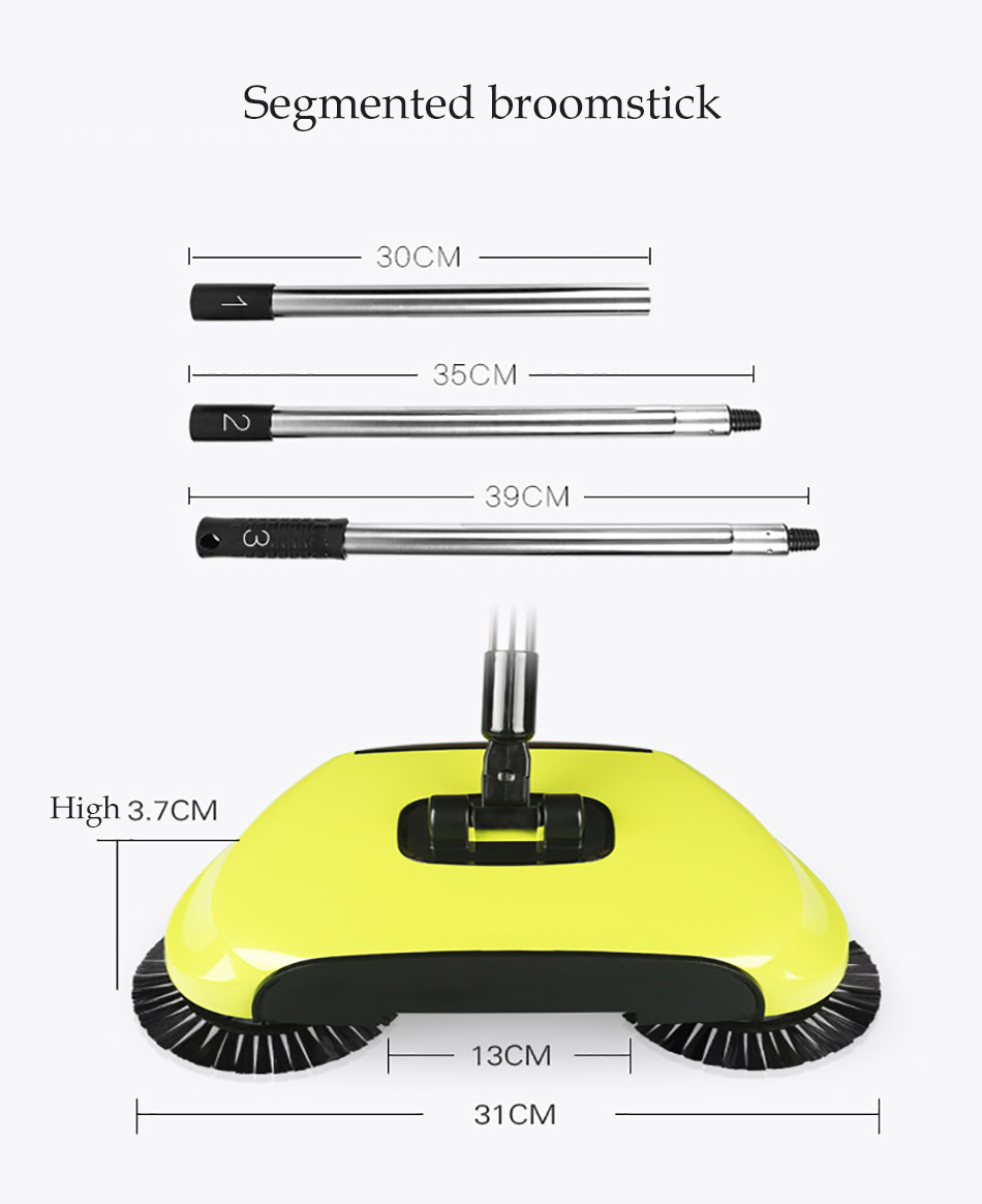 Stainless Sweepers Sweeping Machine Push Type Steel Hand Push Hand Push Magic Broom Sweepers Dustpan Household Cleaning Tools 4