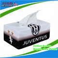 New Stylish Juventus Letters Print Rectangle Tissue Box Case Cotton Sports Napkin Box Holder Juventus FC Car Covers Accessories