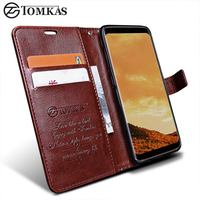 Wallet Case For Samsung Galaxy S8 S8 Plus TOMKAS Original PU Leather Flip Phone Bag Cover