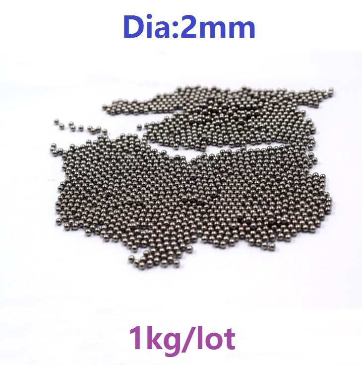 цена на 1kg/lot (about 30600pcs) steel ball Dia 2mm high-carbon steel balls precision bearing steel ball G100 2 mm Diameter
