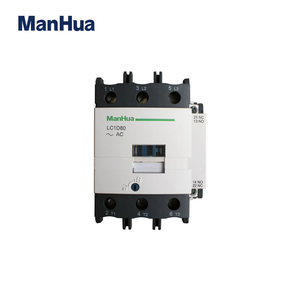 ManHua 3P LC1D80 220-230V Motor Protective Magnetic Electric AC Contactor Three Phase Conactor with Motor Control sayoon dc 12v contactor czwt150a contactor with switching phase small volume large load capacity long service life