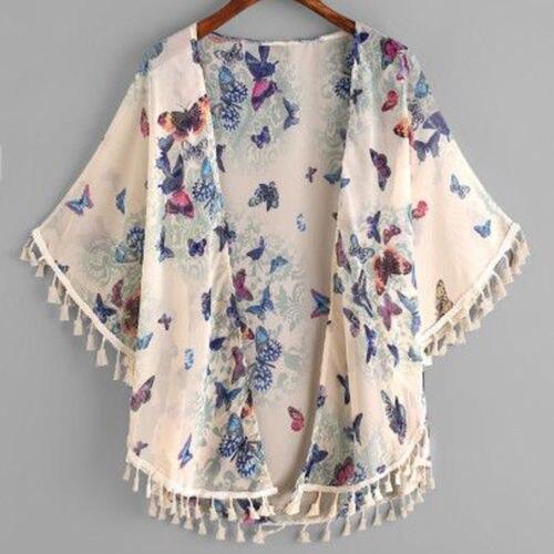 af34cdbe336ba0 2018 New Spring Fall Kids Baby Girls Cotton Tassel Butterfly Kimono Open Cardigan  Jacket Children Girls
